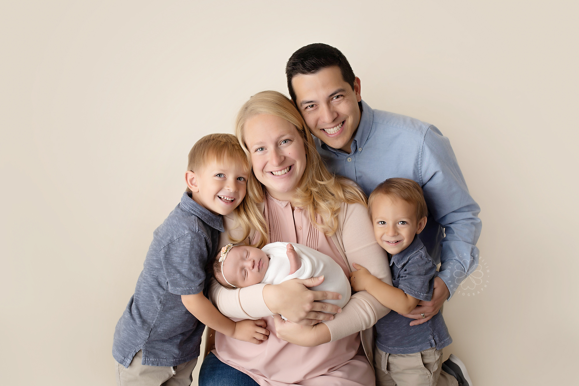 Newborn Family Session Modesto