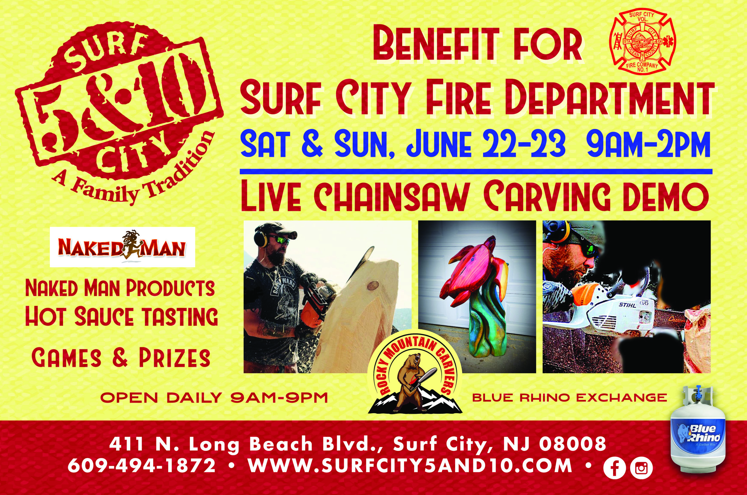 Benefit for Surf City Fire Department — Surf City 5&10