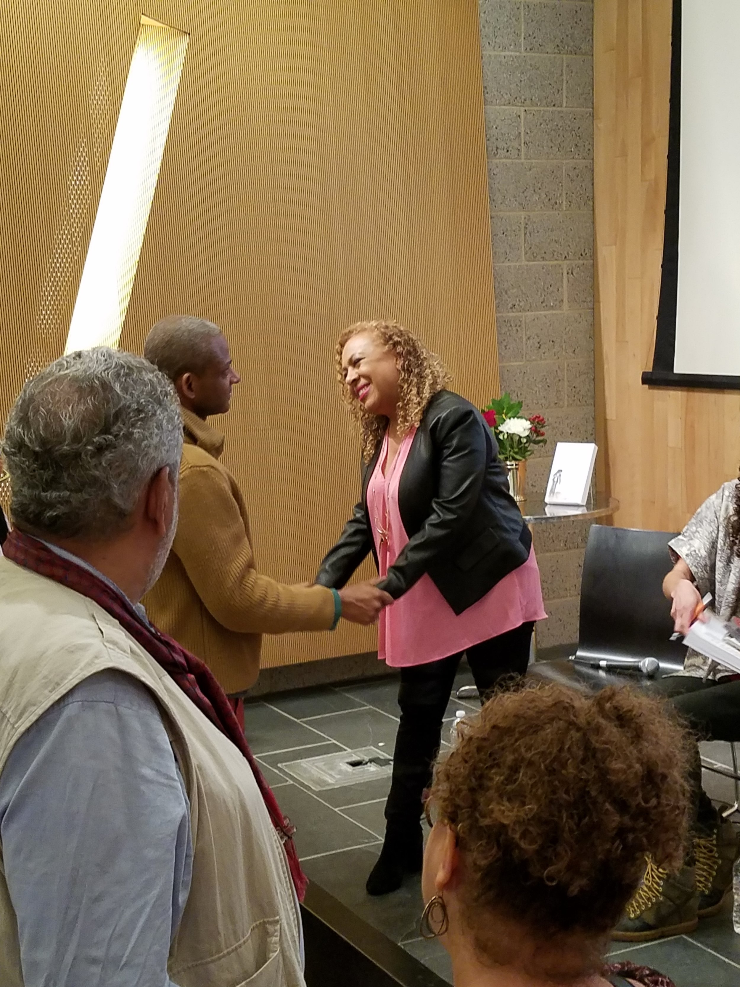 Dr. Jones chats with attendees.