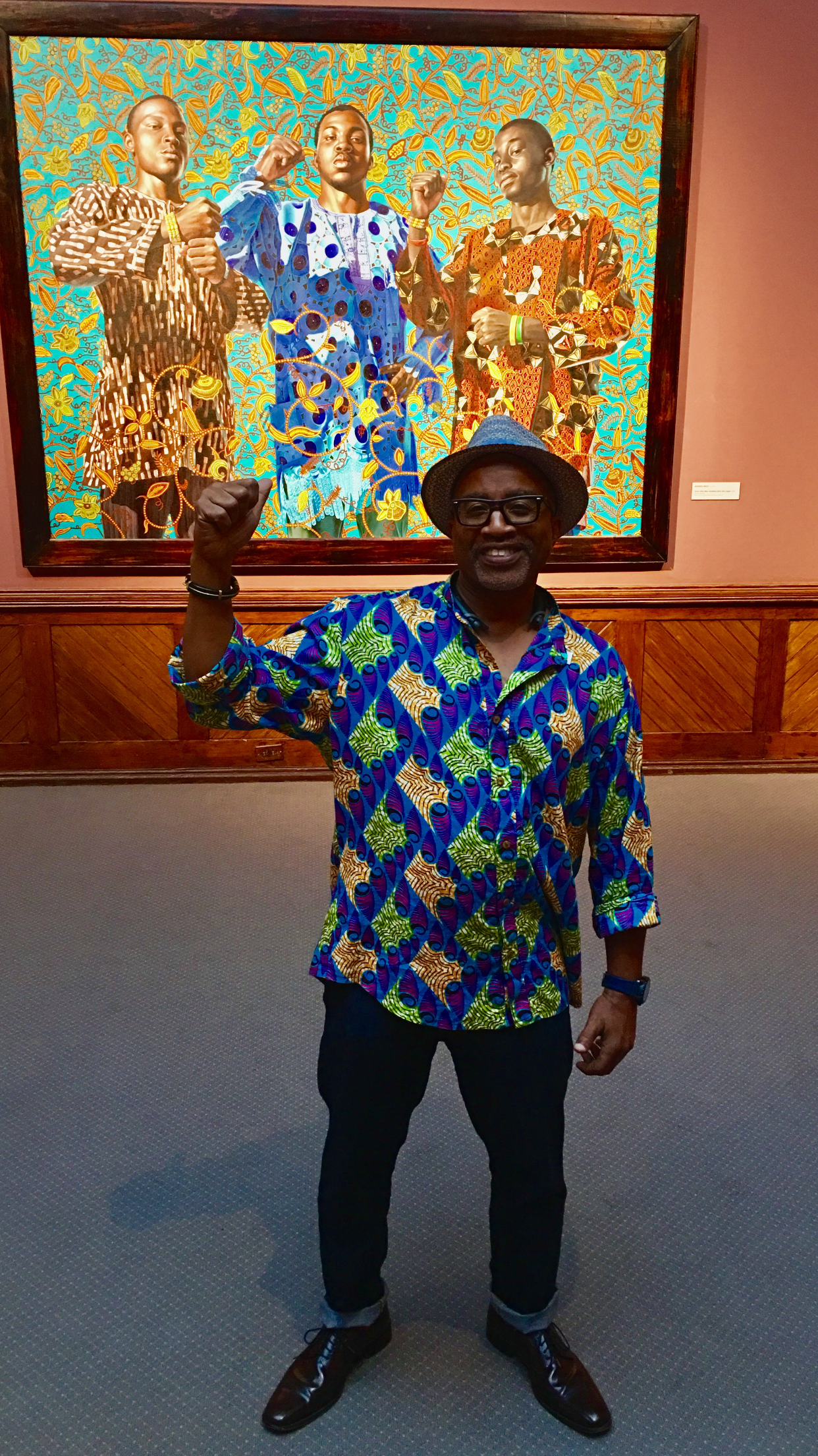 Guthrie Ramsey with Kehinde Wiley,    Three Wise Men Greeting Entry into Lagos , 2008 in PAFA collection