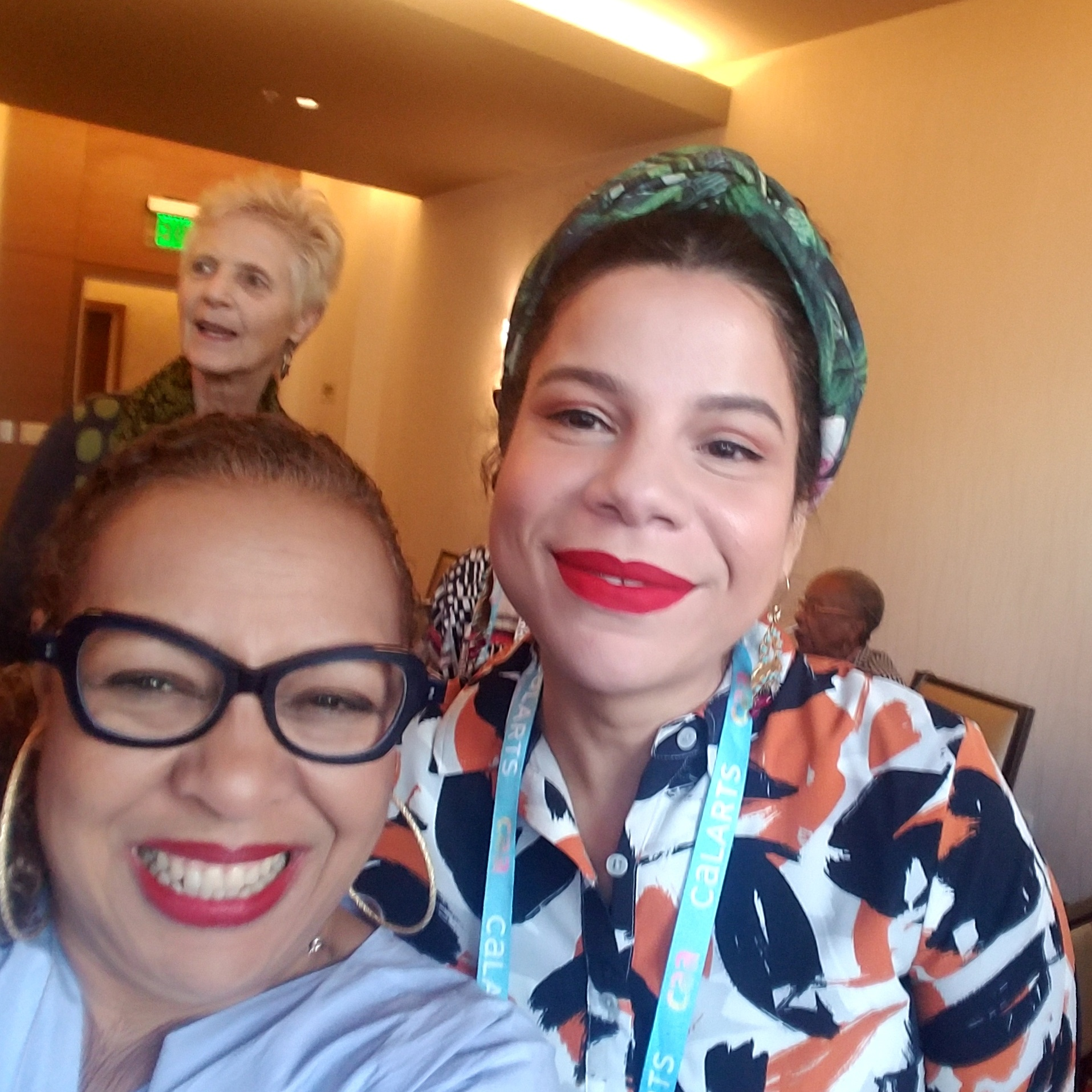 Kellie Jones and Firelei Báez, winner of the  2018 Artist Award for Distinguished Body of Work .