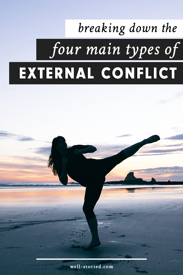 What is external conflict? We discuss the difference between external and internal conflict, the four main types of external conflict, and how to weave it all into your story in this article on the Well-Storied blog!