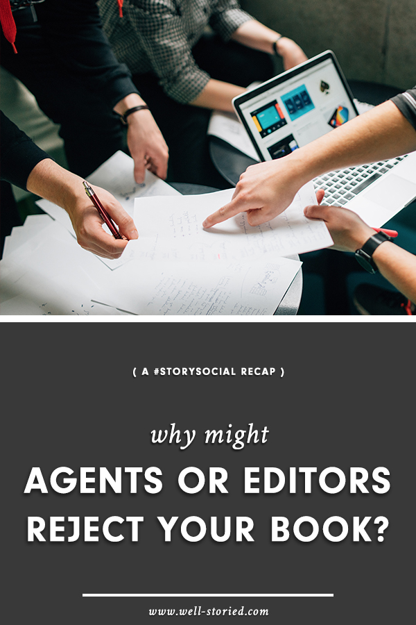 Have you faced rejection from agents or publishers? Or are you worried about what common manuscript mistakes might cause rejection when you do choose to query? Come check out this recap of a recent #StorySocial chat, where dozens of writers gathered to discuss this very topic!
