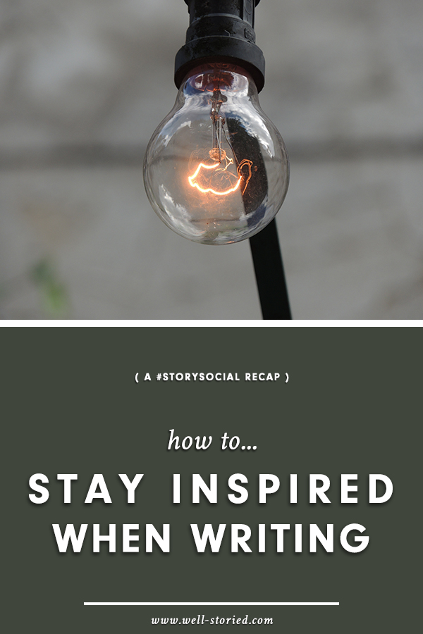 Struggling to stay motivated and excited to write? Check out this insights and inspirations in this #StorySocial recap!