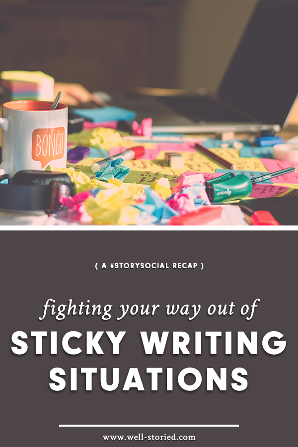 Tired of struggling with sticky writing situations? Learn how to fight your way out with tips + tricks from writers around the world!