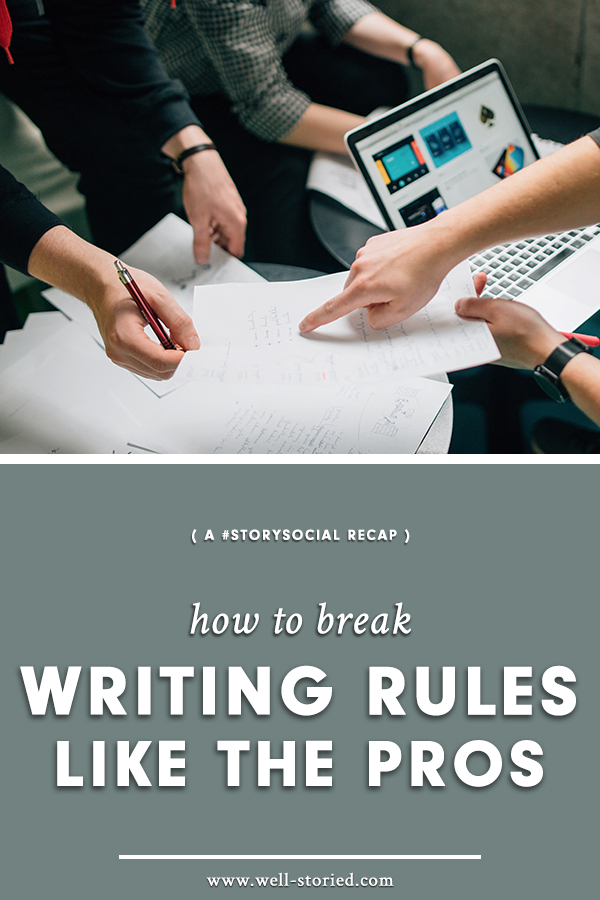 Are writing rules really all their cracked up to be? Which writing rules should we follow and which should we break? Dive into this recap our latest #StorySocial Twitter chat today!