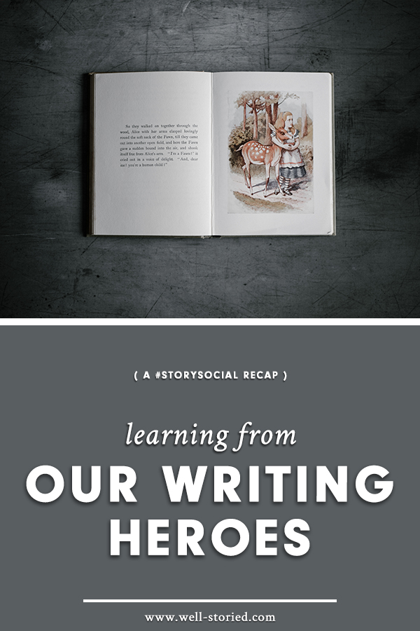 What can we learn about the writing craft from our very own writing heroes? Writers from around the world weighed in during this week's #StorySocial chat. Catch the recap on the Well-Storied blog today!