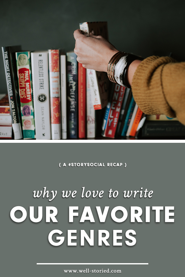 Why do we love to write our favorite genres? Writers around the world discussed their passion for their work during this week's #StorySocial chat. Catch the highlights today!