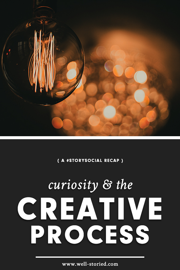 What role does curiosity play in our creative process? That's exactly the topic we discussed in this week's #StorySocial chat. Catch the recap live on the Well-Storied blog today!