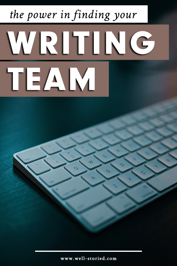 If you want to make the most of your writing life, don't let that life be solitary. There's incredible power in finding your writing team, and today on the blog, Tim Storm explains why (and where you can find your own!).