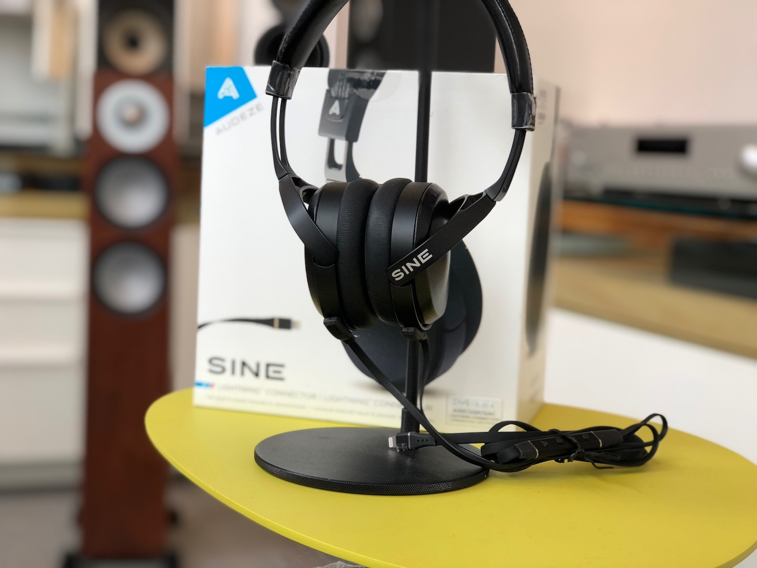 Audeze SINE - hand built in California. Compare at $799. We have them on sale for $429 with the CIPHER cable with 24-bit DAC built-in.