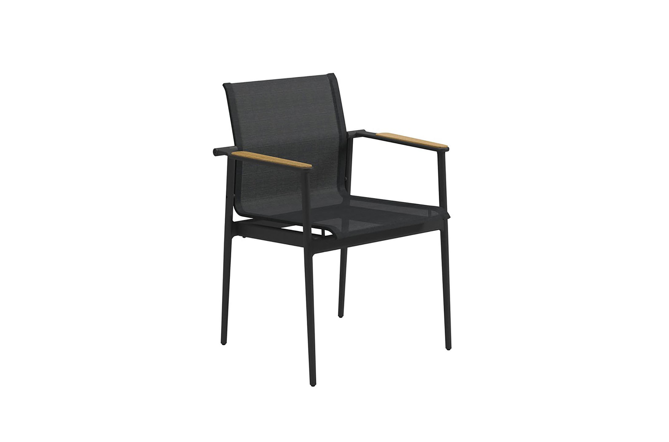 Gloster 180 Stacking Chair  with Teak Arms