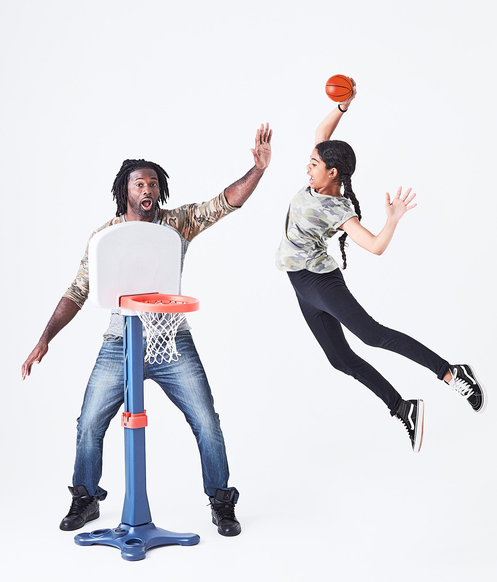 Basketball player Bobby Jones, Jr. with his daughter Aaliyah