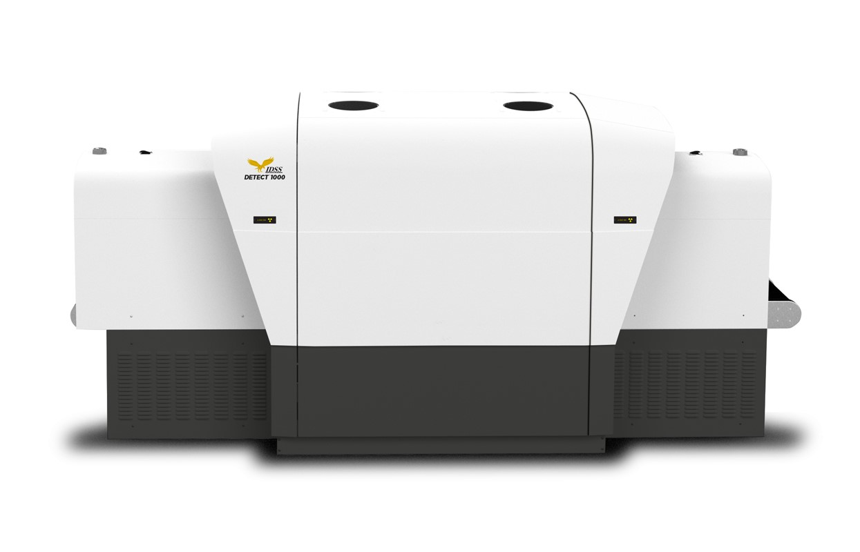side view of the DETECT 1000, a CT baggage scanner