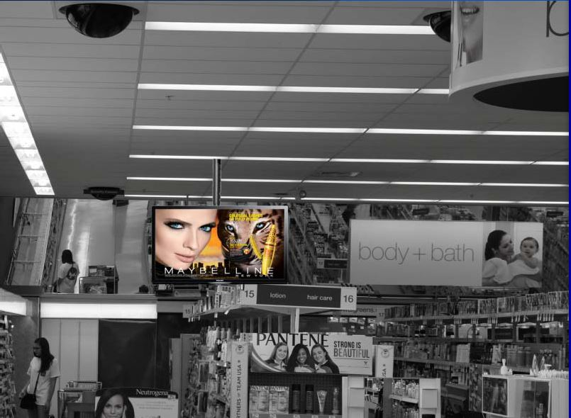 cosmetics display near cosmetics