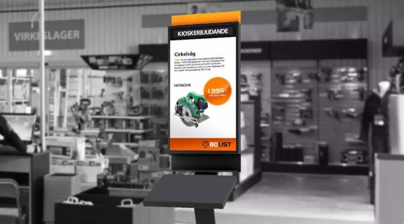 floor level digital kiosks