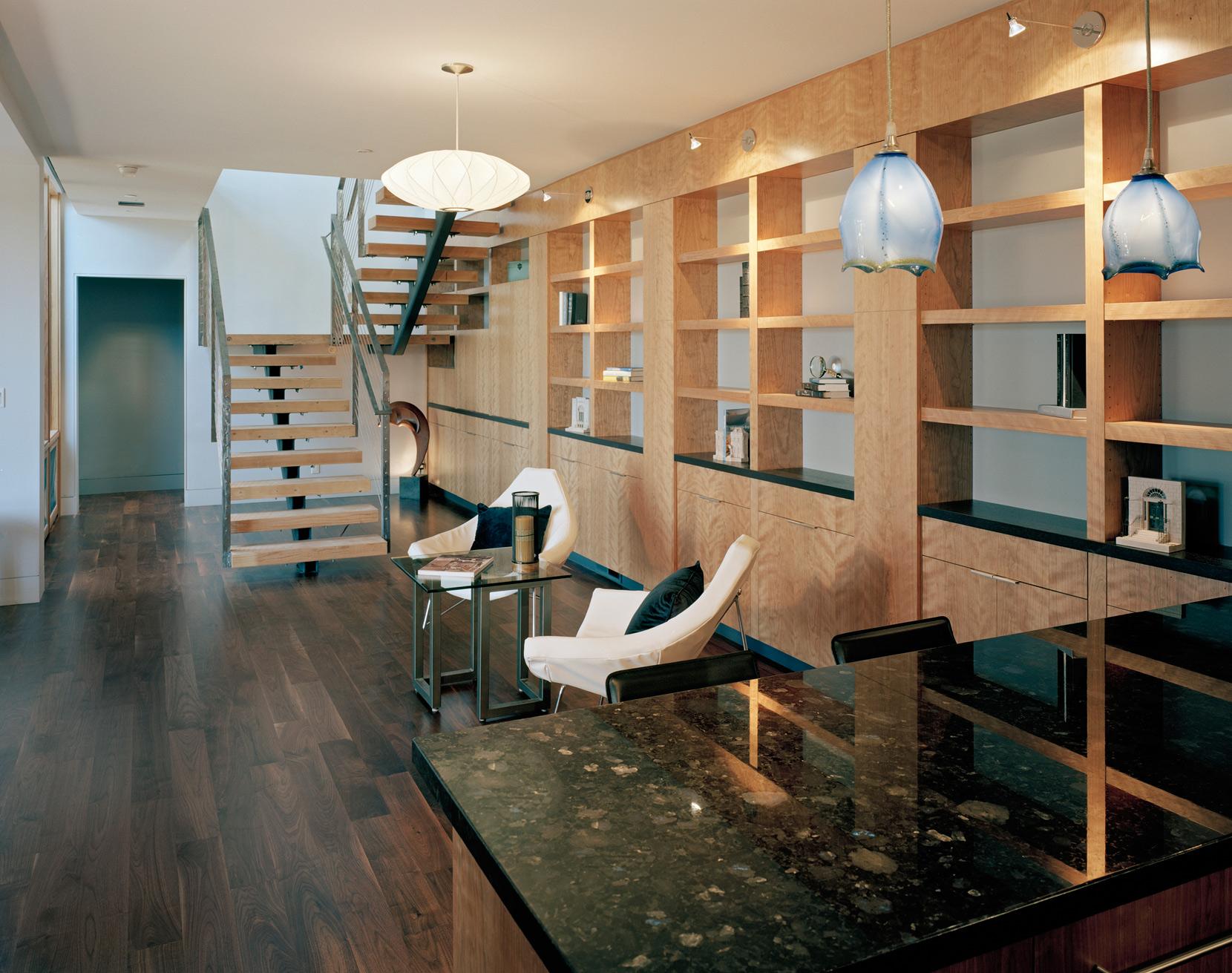 Library in new modern home.jpg