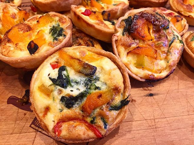 The cooler weather calls for warm quiches 🤩 . . #fionasfood #christchurchcatering #chccatering #catering  #foodporn #partyfavours #foodinspo #christchurchfood #christchurch #chchesats #christchurcheats #quiche #miniquiches #homemadepastry #minibites
