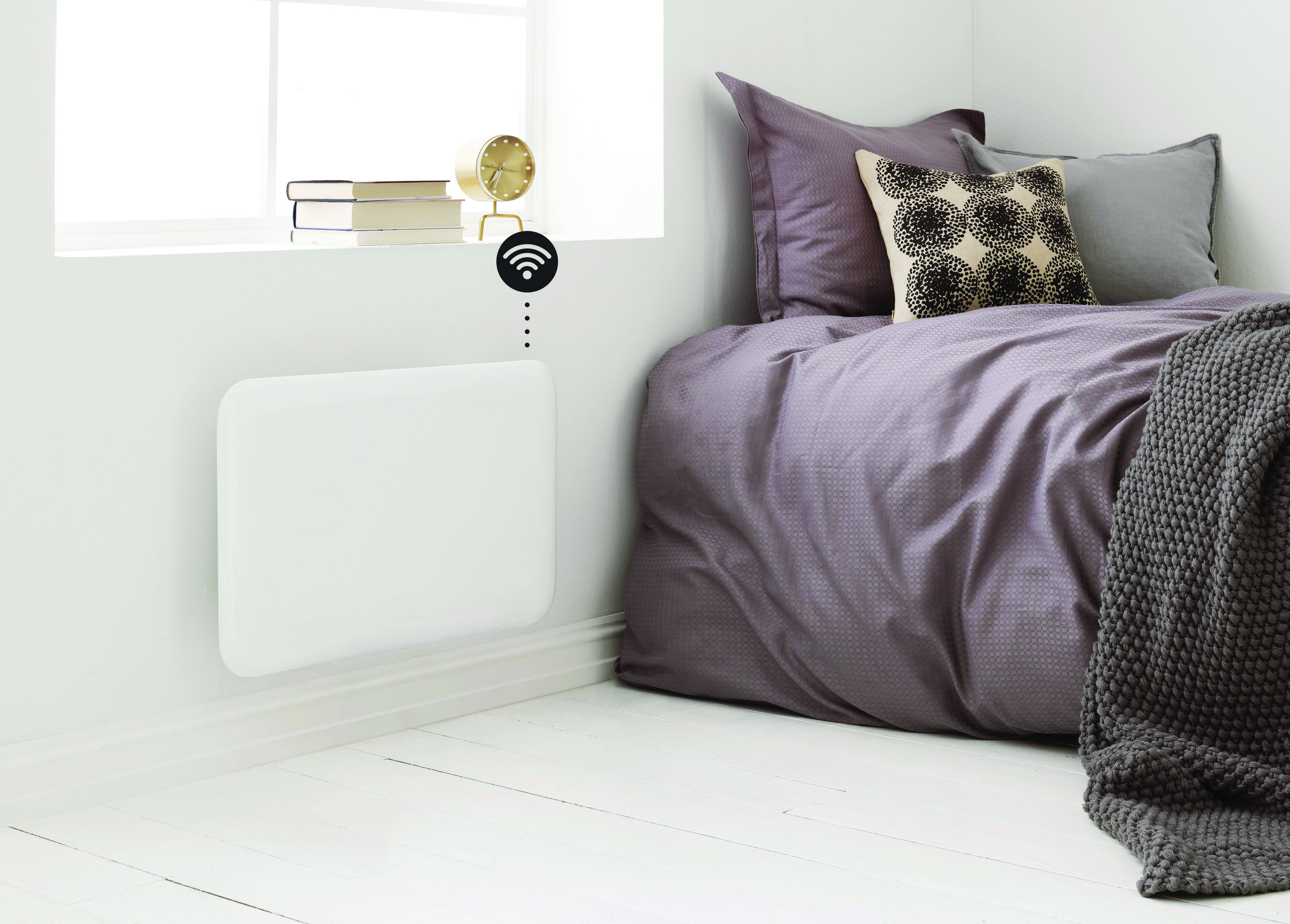 Mill heater in the bedroom