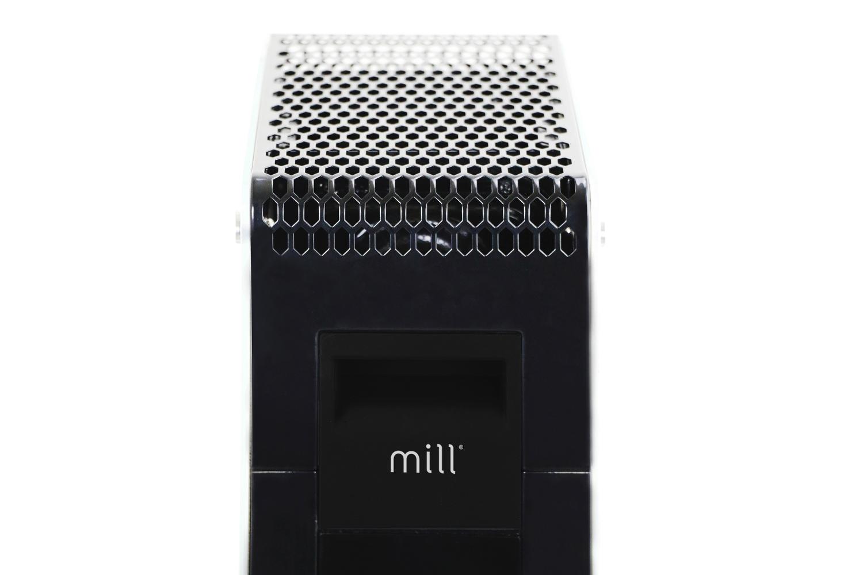 Mill AB-H1000 DN oil heater handler zoomed in