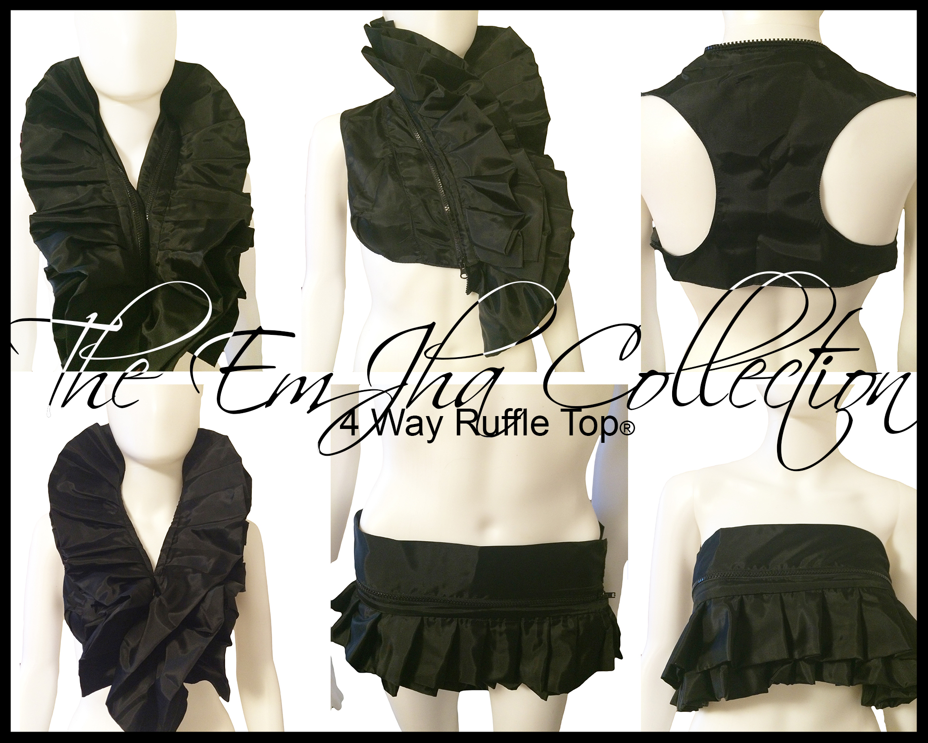 The EmJha Collection 4 Way Ruffle Top