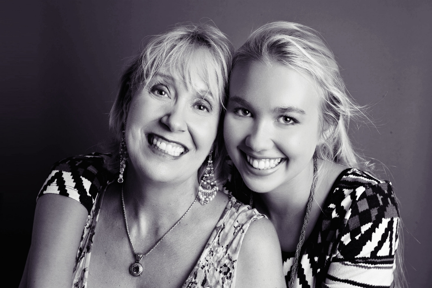 Laughing Mother and Daughter - Rose Pierce Portrait