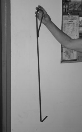 Grass Hook - an essential piece of kit.