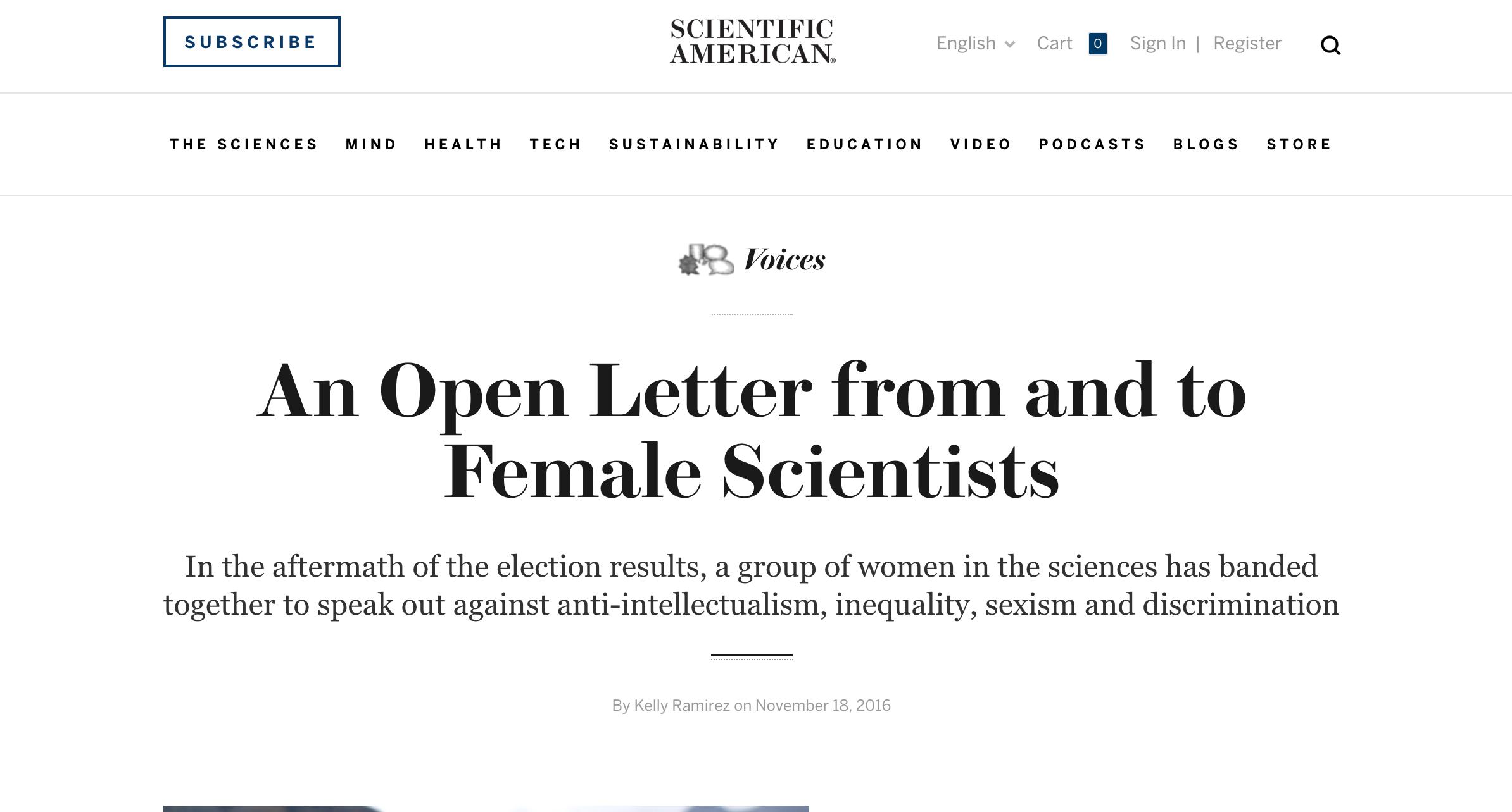 Scientific American, 18 November 2016