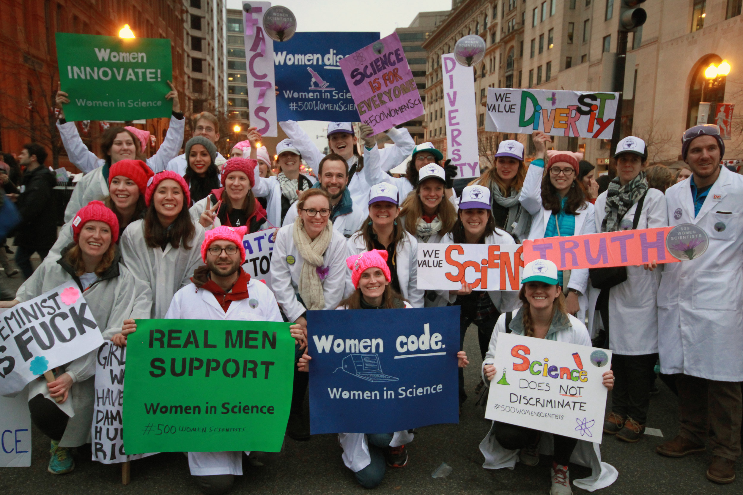 Forbes, Why Were Dozens of People in White Lab Coats at The Women's March in DC? , 22 Jan 2017