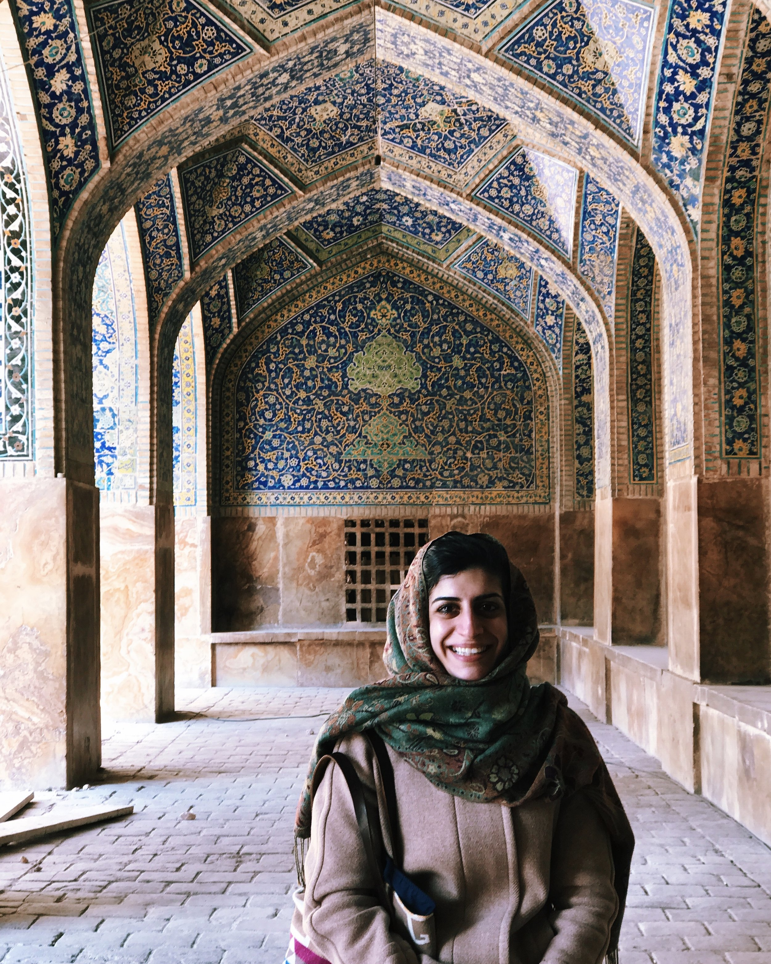At a mosque in Esfahan, Iran