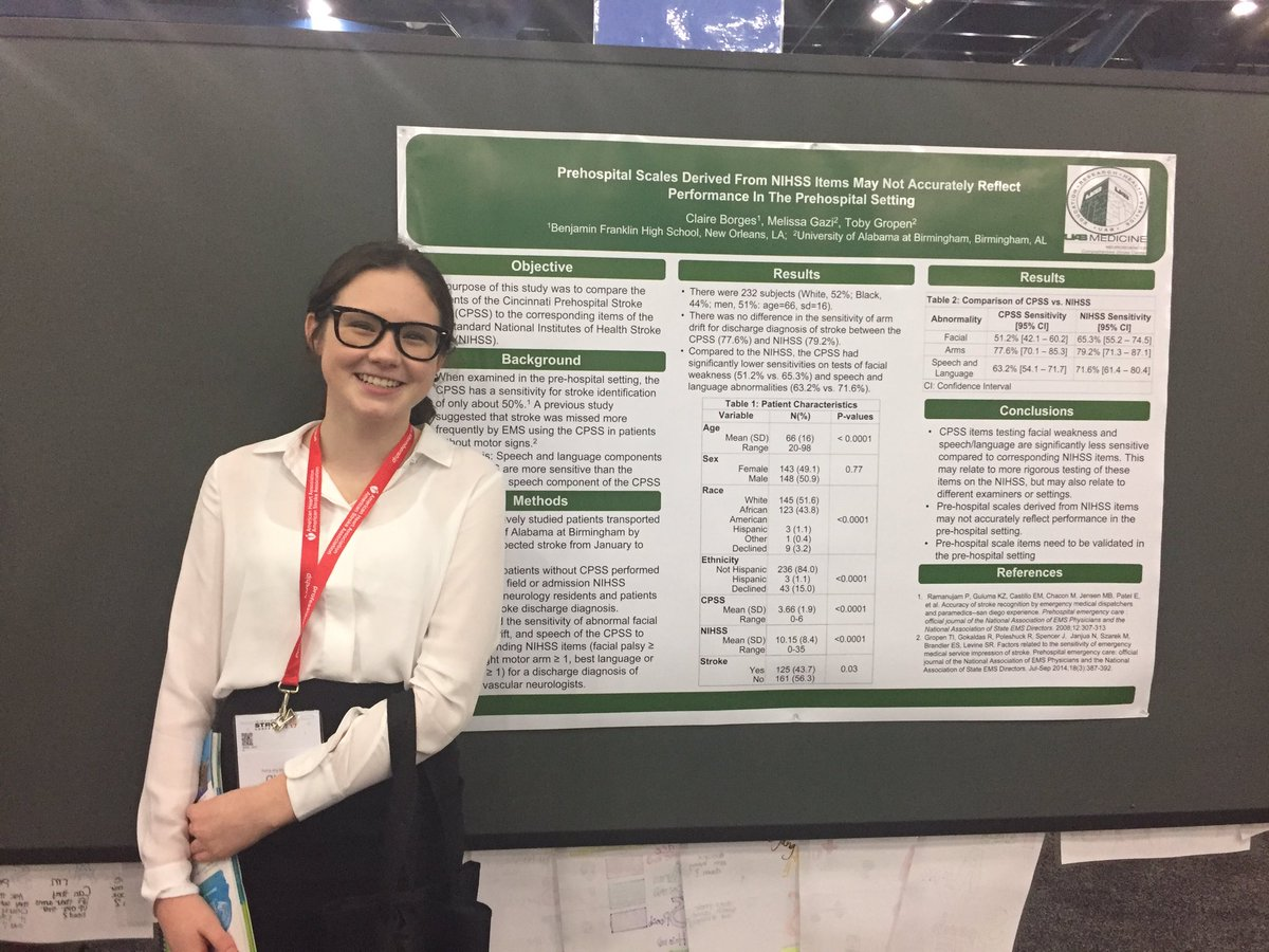 Claire presenting a poster at the International Stroke Conference.