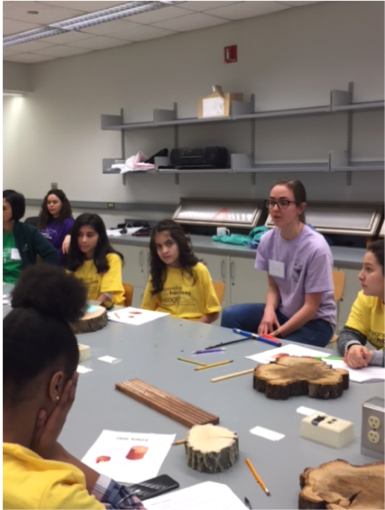 Talking to middles school girls about Tree Rings