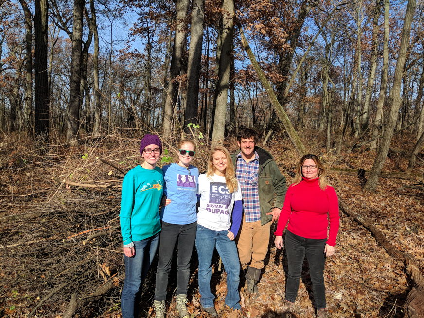 Restoration Work Day at Churchill Woods Forest Preserve. We had beautiful weather and had a great time clearing invasive buckthorn and honeysuckle.