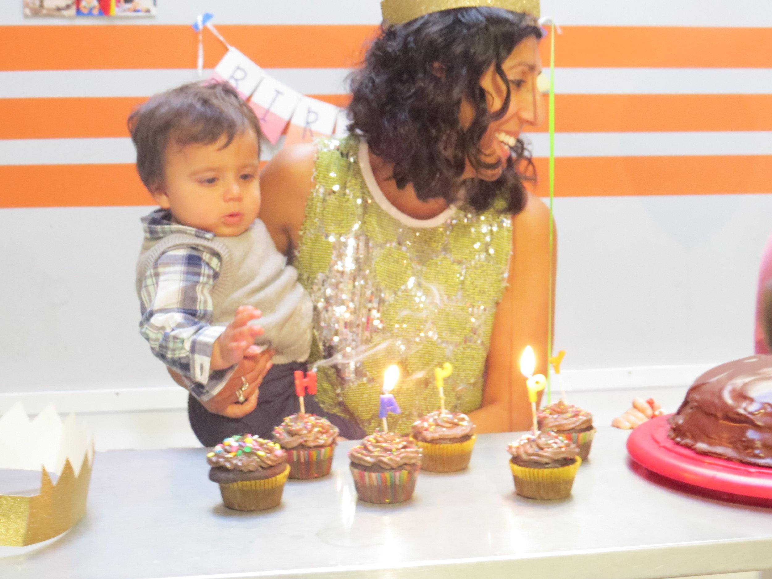 Shaila and her son Remi at a birthday party. Photo by Shashi Kotadia.