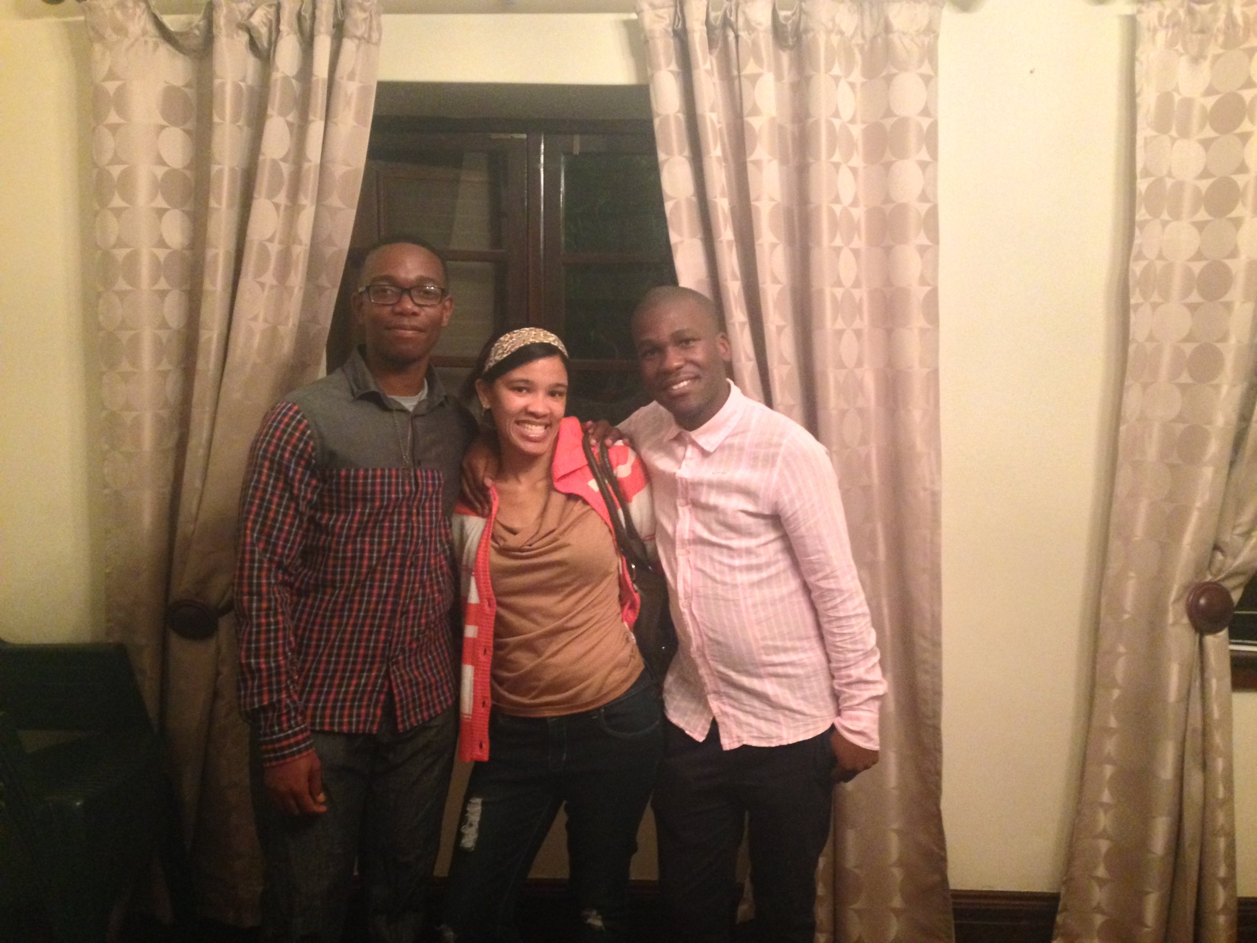 Lorenzo, Natasha, & Luthando.  East Mountain Interns for 2015 and some of our new friends