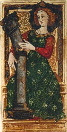 Charles IV / Gringonneur Tarot, Strength 15th Century