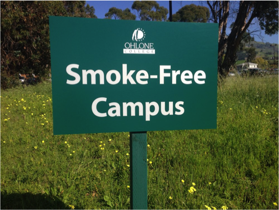 Ohlone College was the first community college in the Bay Area to adopt a 100% smoke-free policy.