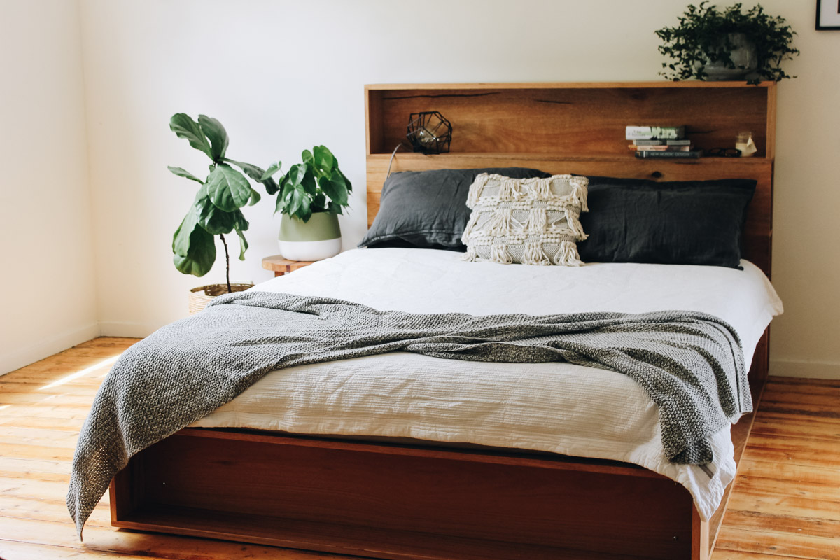 al and imo handmade timber platform bed frame with bookshelf bed head (14 of 25).jpg