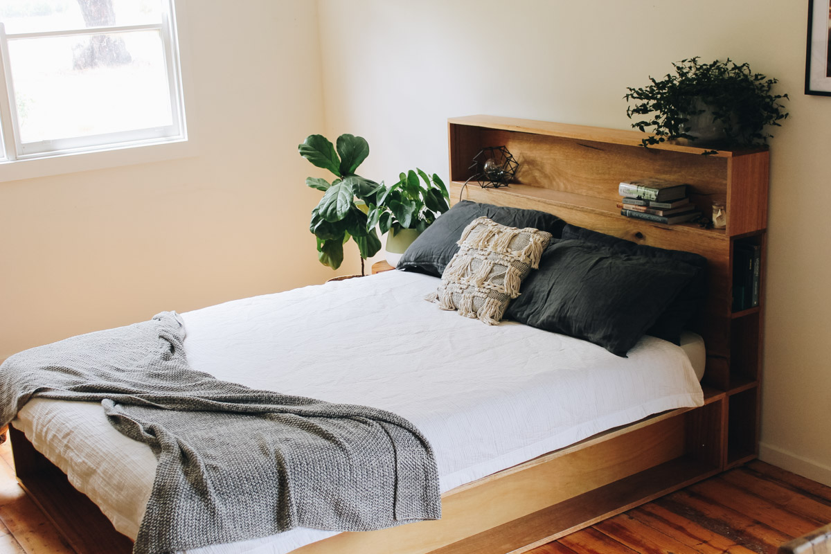 al and imo handmade timber platform bed frame with bookshelf bed head (12 of 25).jpg