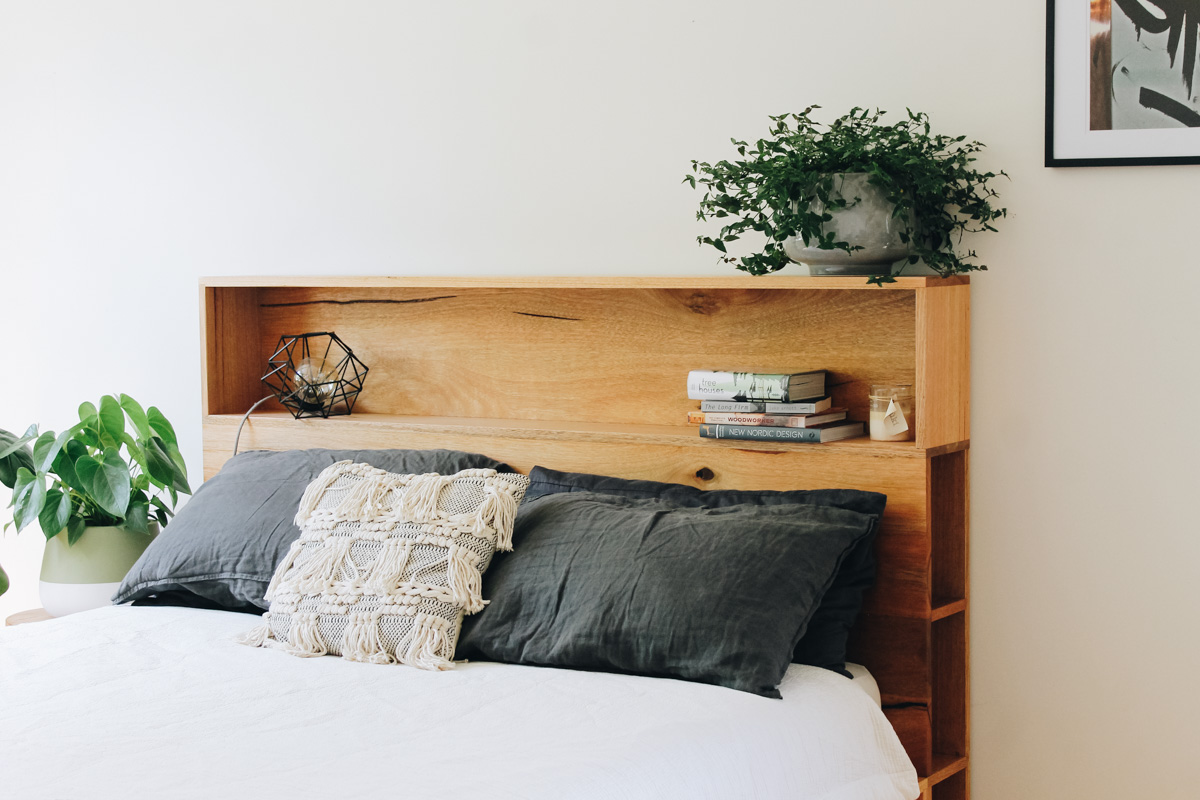 al and imo handmade timber platform bed frame with bookshelf bed head (2 of 25).jpg