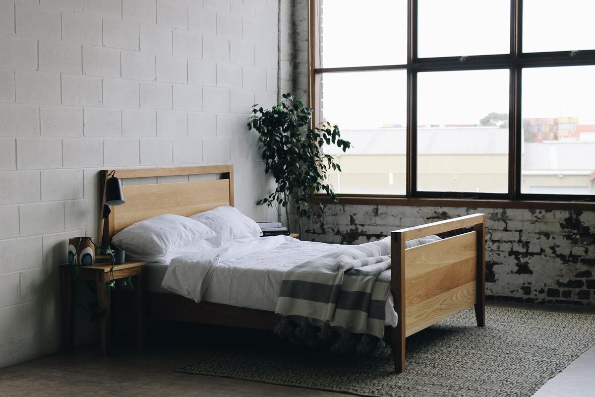AL and Imo Handmade - Tall Scandi - custom American Oak timber bedframe - Surf Coast - Melbourne - Victoria - Australia-46.jpg