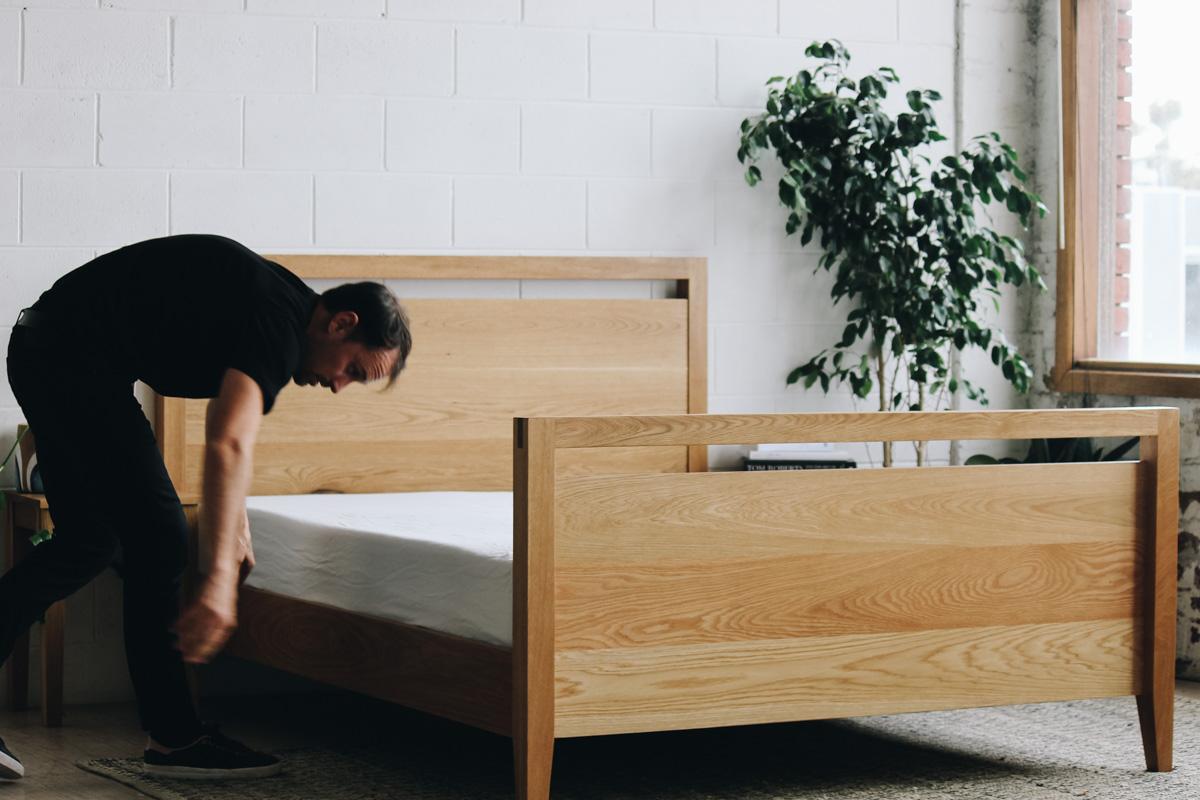 AL and Imo Handmade - Tall Scandi - custom American Oak timber bedframe - Surf Coast - Melbourne - Victoria - Australia-85.jpg