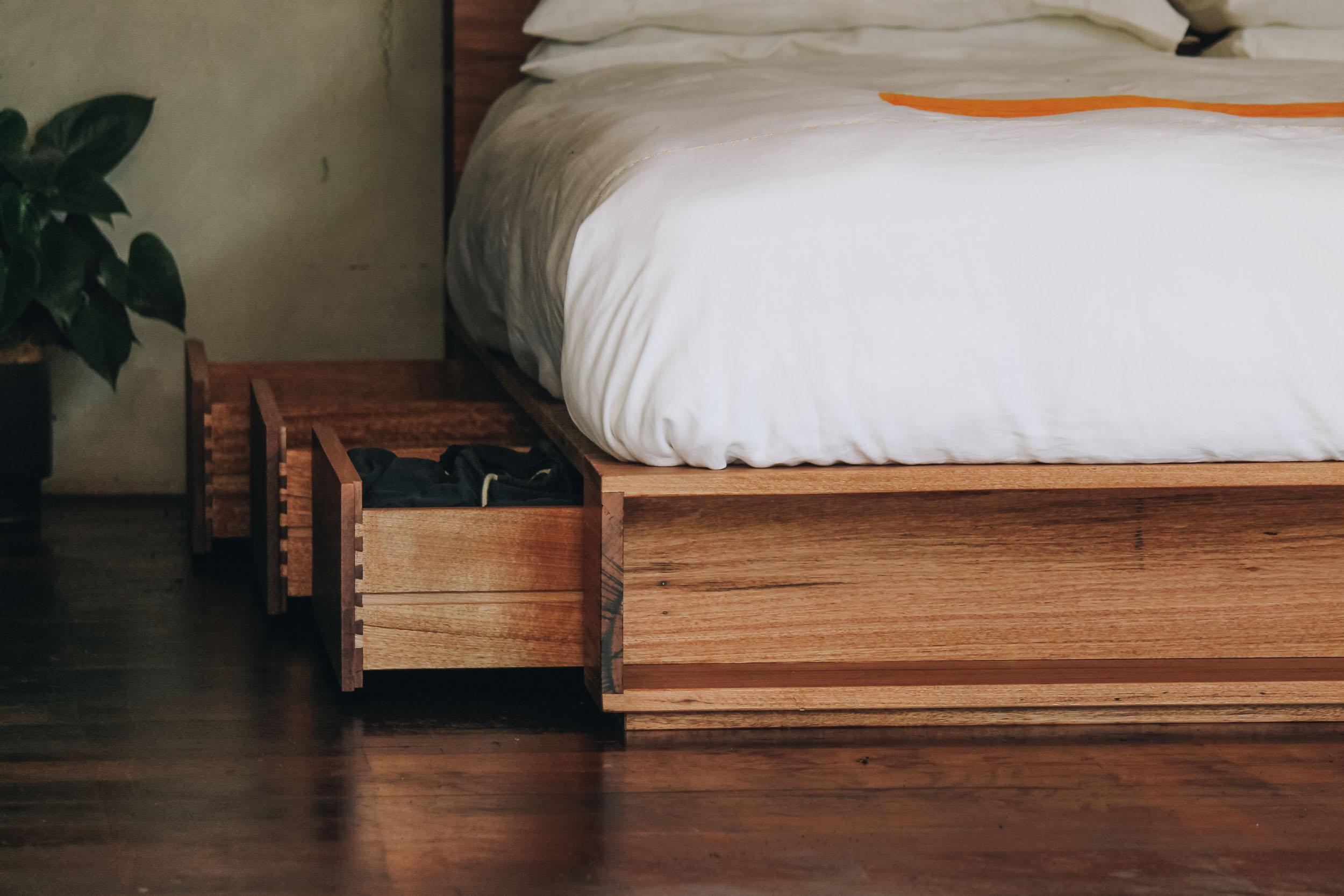 Al and Imo Handmade Bookshelf Drawer Bed Recycled timber - surf coast - melbourne - australia-3.jpg