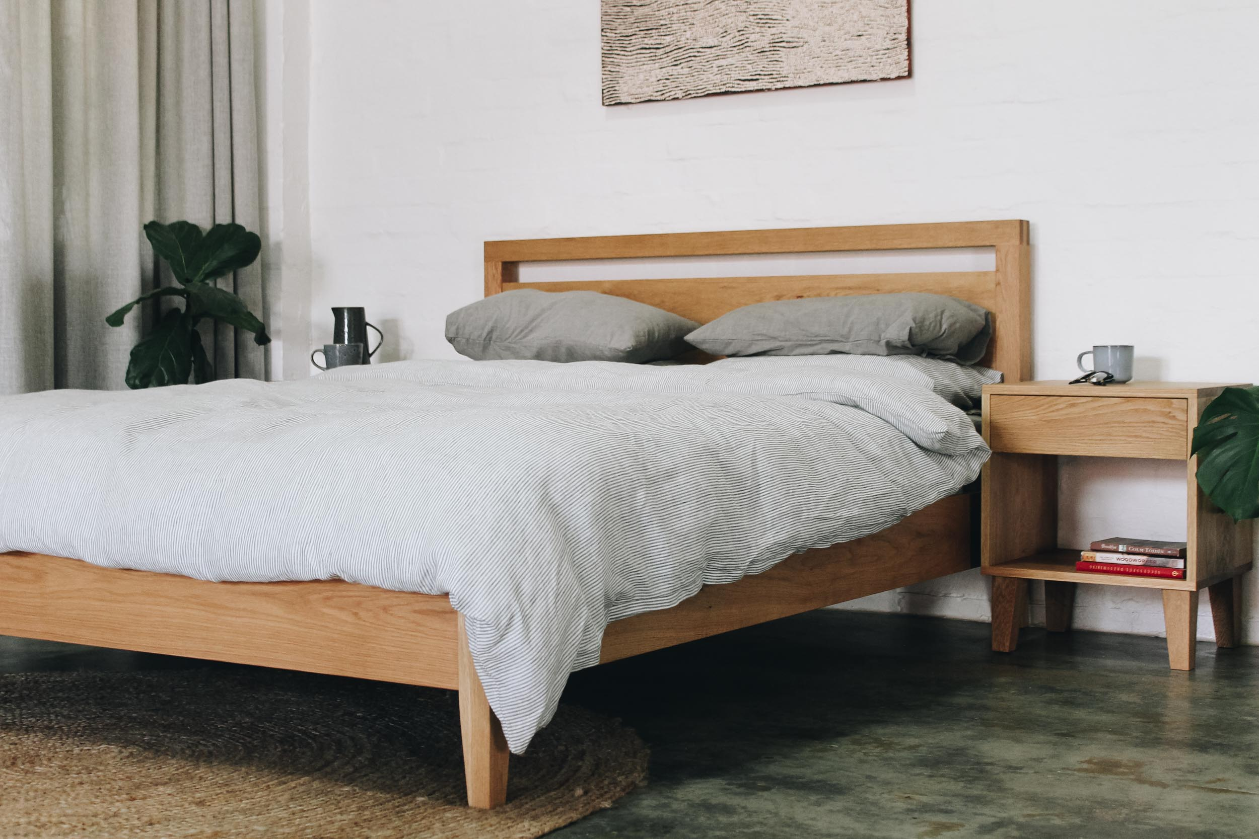 Al and Imo Handmade - American Oak Custom bed and Bedside Tables-30.jpg