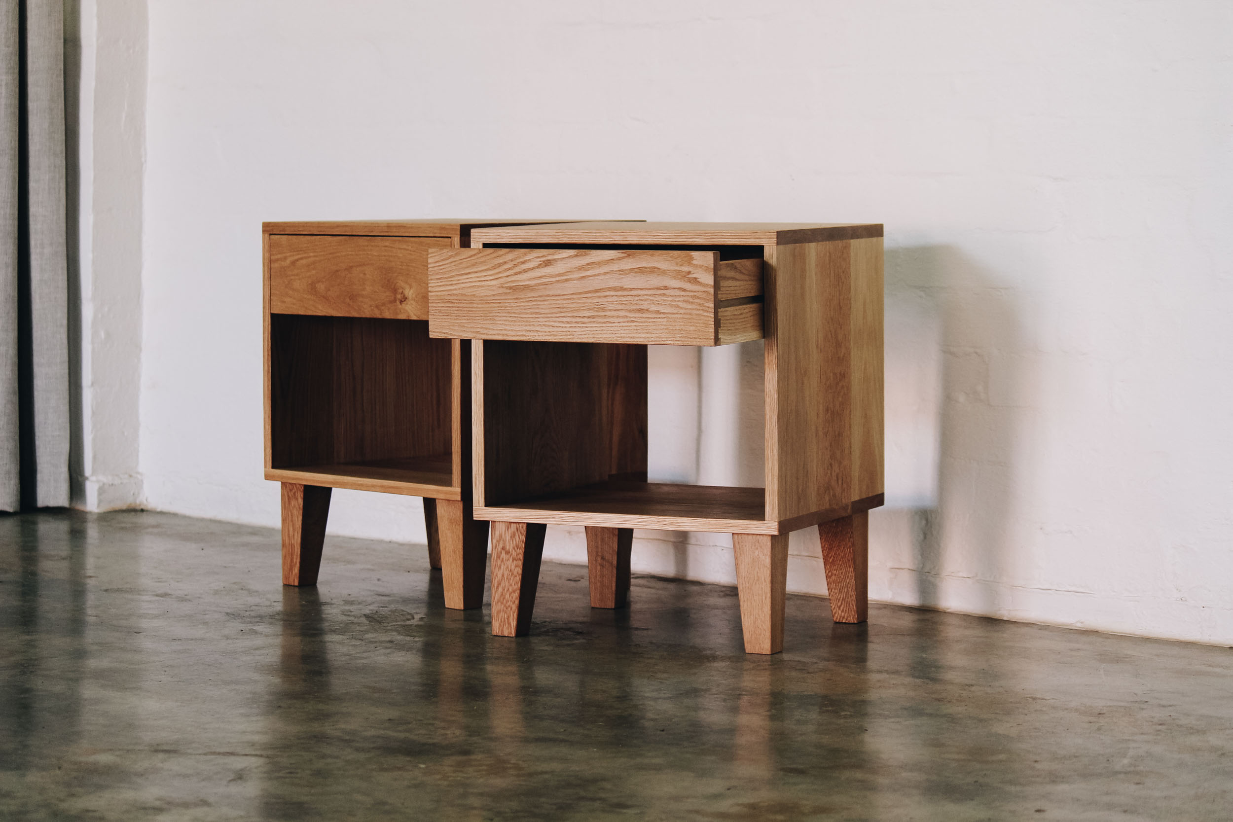 Al and Imo Handmade - American Oak Custom Bedside Tables.jpg