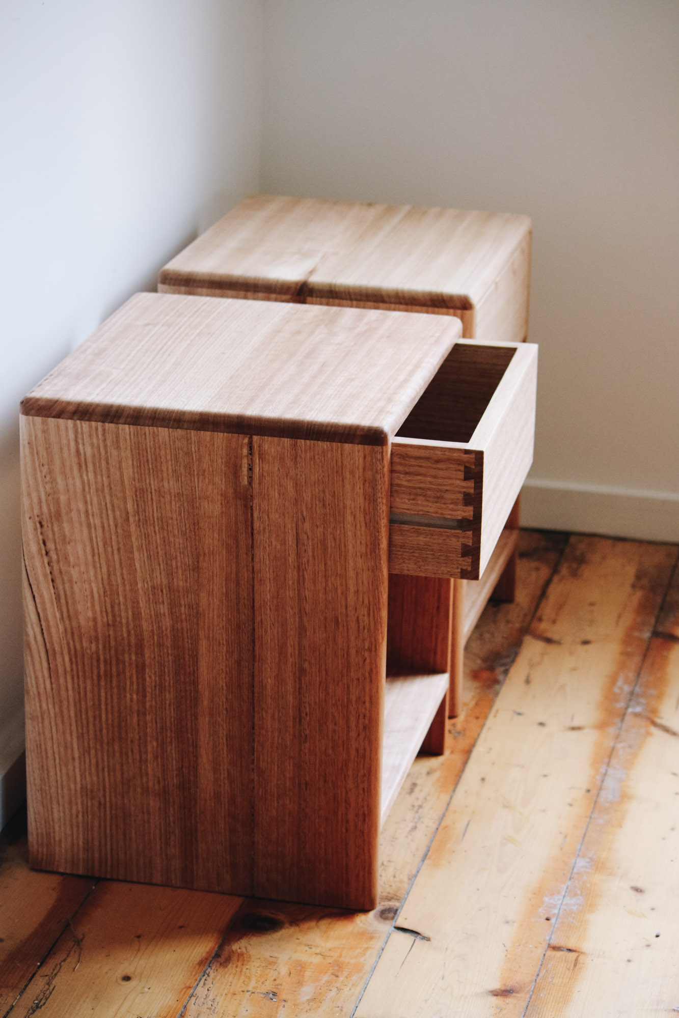 Al and Imo Handmade - Low Bedside Tables - Custom minimalst timber side drawer - Melbourne - Surf Coast - Australia-4.jpg