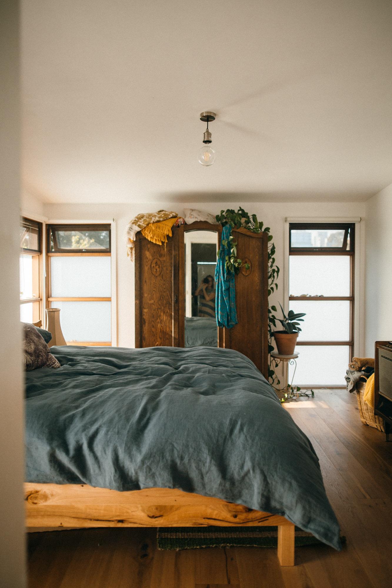 Feature Headboard Square Bed    -    Mr Draper    bed linen.