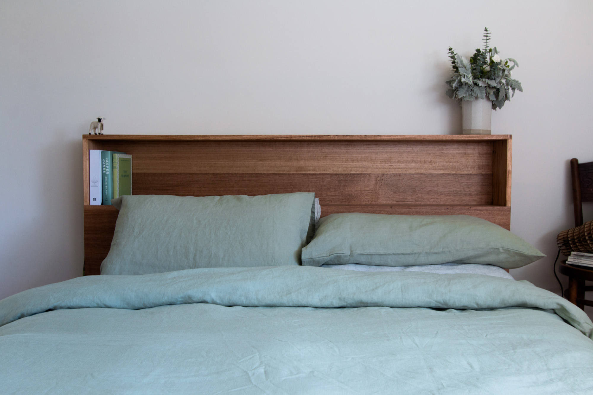Al and Imo Handmade - Bookshelf Bedhead Platform Bed - Custom made from recycled timber - Australia - Melbourne - Surf Coast-5.jpg