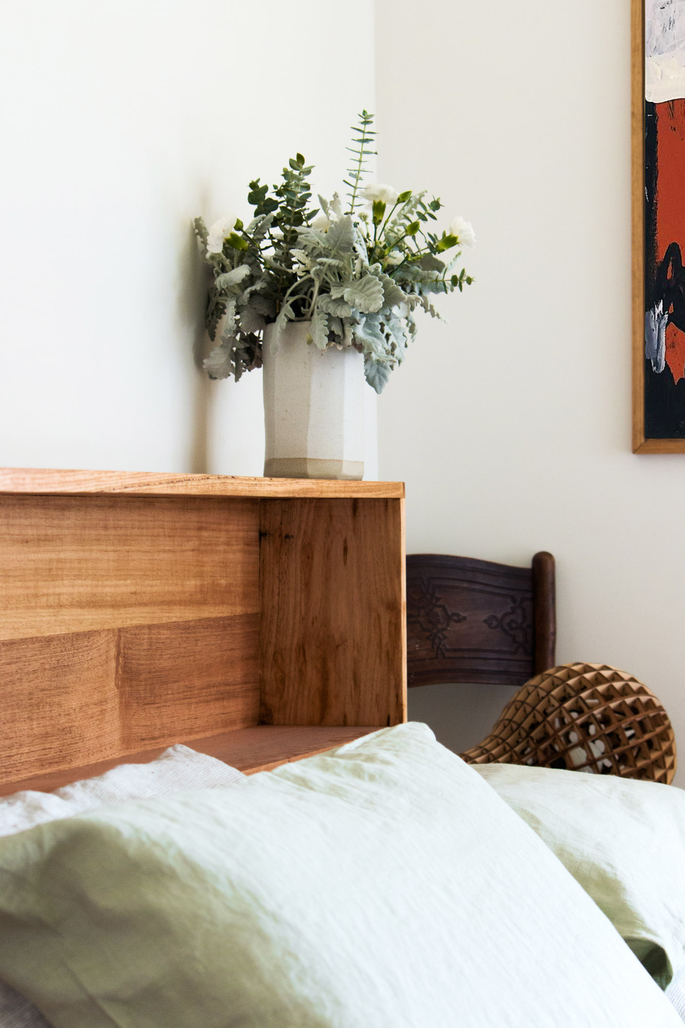 Al and Imo Handmade - Bookshelf Bedhead Platform Bed - Custom made from recycled timber - Australia - Melbourne - Surf Coast-25.jpg