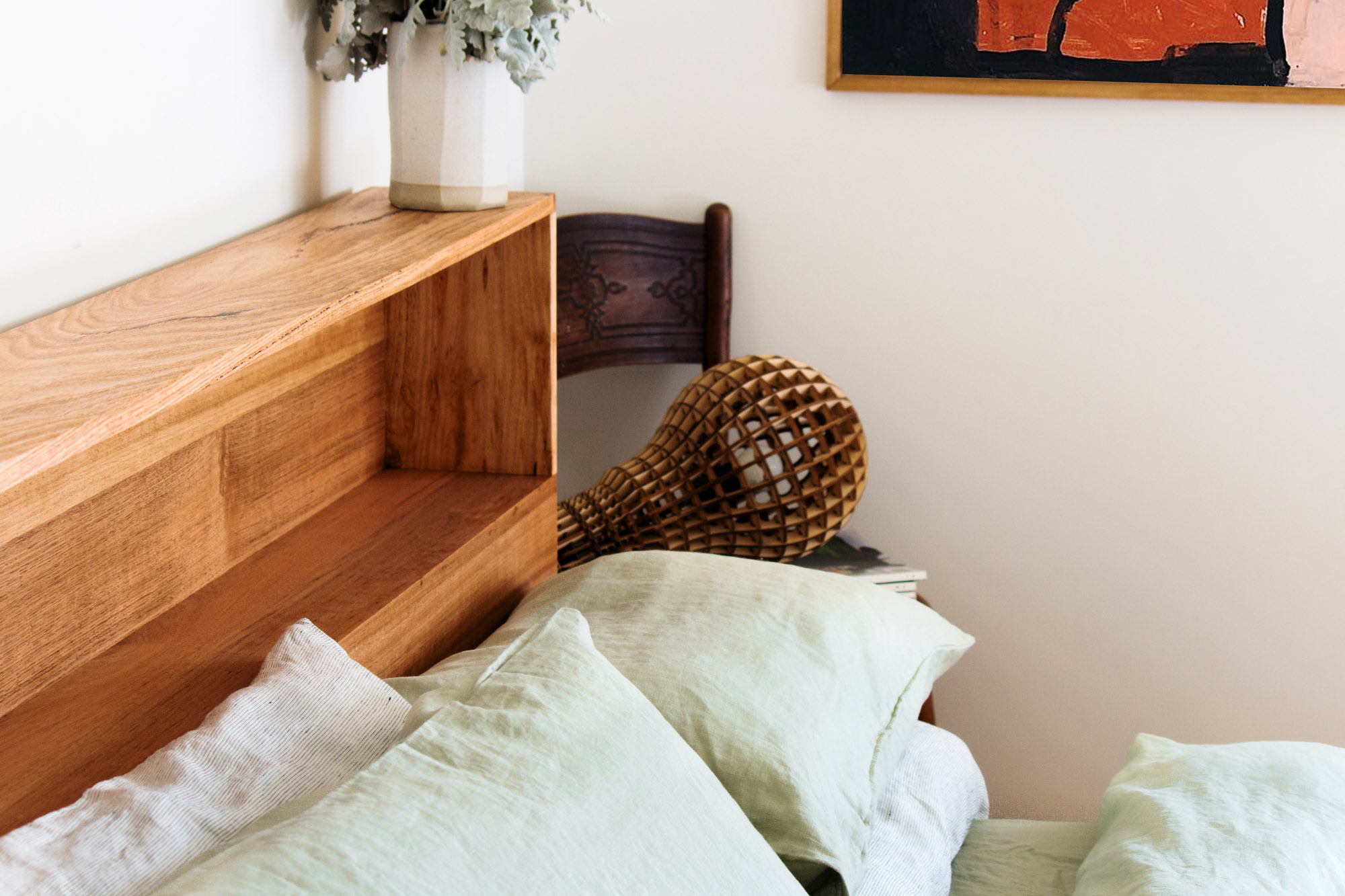 Al and Imo Handmade - Bookshelf Bedhead Platform Bed - Custom made from recycled timber - Australia - Melbourne - Surf Coast-24.jpg